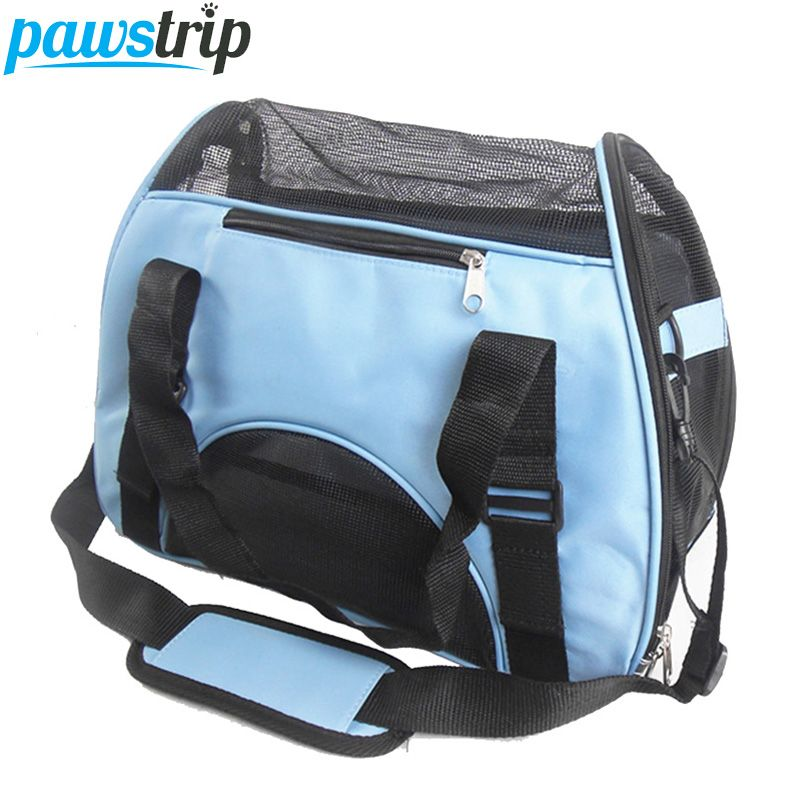 Складная сумка для переноски питомца Оксфорд Обувь с дышащей сеткой Cat Переноски снаружи Портативный собака сумка Водонепроницаемый