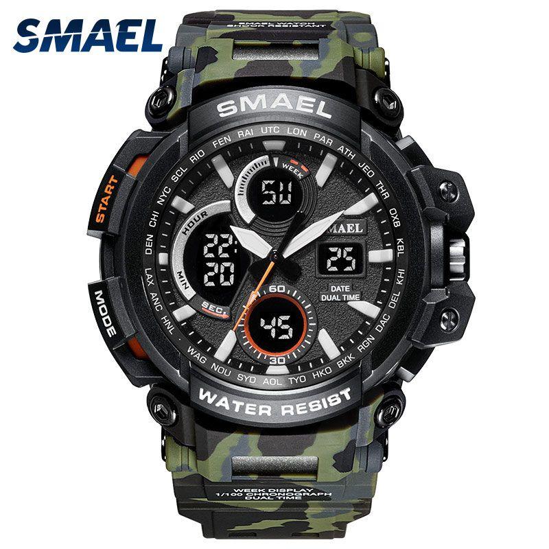 SMAEL Sport montres 2018 hommes montre LED étanche montre numérique homme horloge Relogio Masculino erkek kol saati 1708B hommes montres