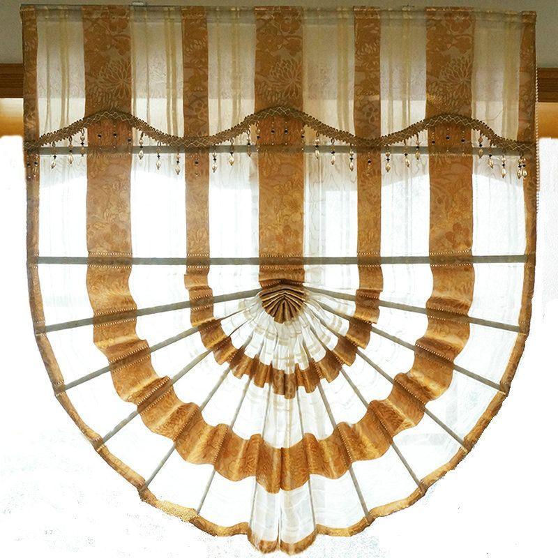 Neue Ankunft Luxus Europa Raffrollos Tüll/Sheer Goldene/Grau Fenster Behandlungen/Vorhänge Für Hotels/villen Kostenloser Versand