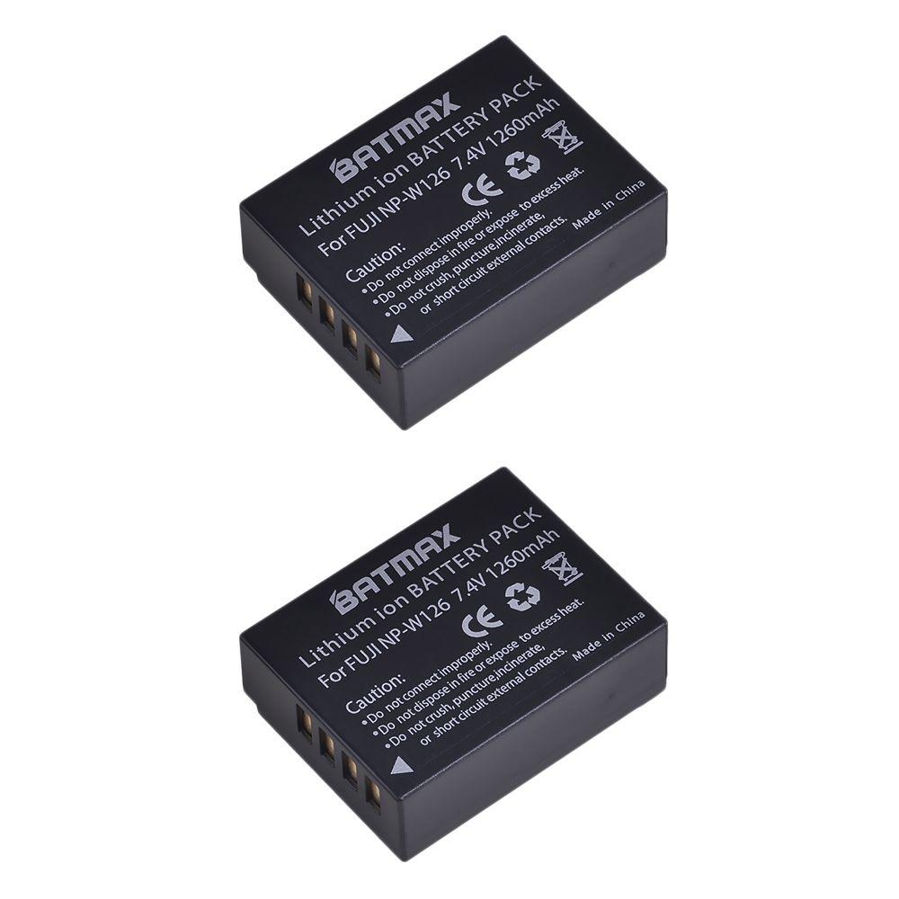 2 pièces NP-W126 NP W126 NPW126 Batterie pour Fujifilm X-E1 XE1 X-E2 XE2 X-A1 X-M1 X-M2 X-T1 XT1 X-Pro1 XPro1 HS33 HS30 HS50 EXR