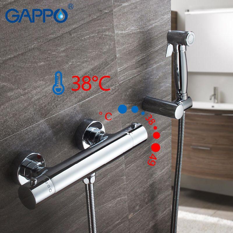 GAPPO wand montiert Bidet Wasserhahn chrom-thermostatische dusche bidet wc sprayer muslimischen dusche washer mixer wasserhahn