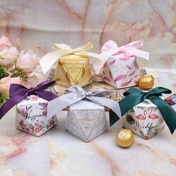 Multicolore Boîte De Faveur De Mariage et Sacs Doux Cadeau De Sucrerie Boîtes pour le Mariage Baby Shower D'anniversaire Invités Faveurs Fournitures Événement de Fête