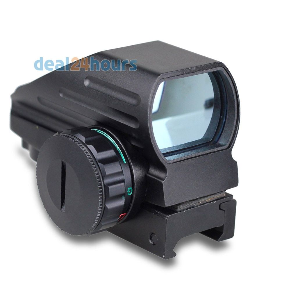 Tactical Reflex Red/<font><b>Green</b></font> Laser 4 Reticle Holographic Projected Dot Sight Scope Airgun Rifle sight Hunting Rail Mount 20mm