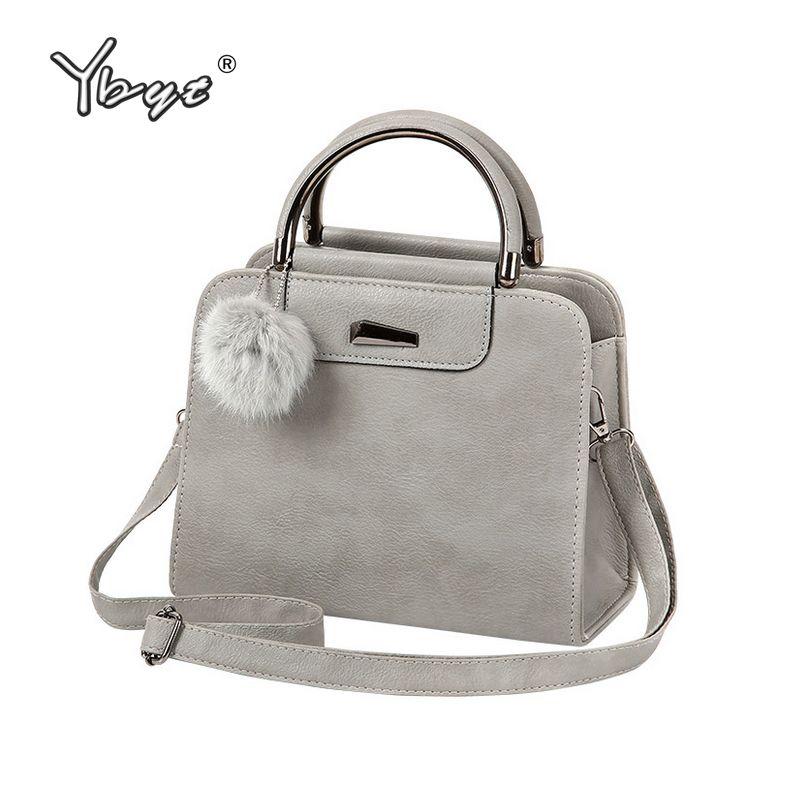 YBYT brand 2018 new vintage casual PU leather women handbags <font><b>hotsale</b></font> ladies small shopping bag shoulder messenger crossbody bags