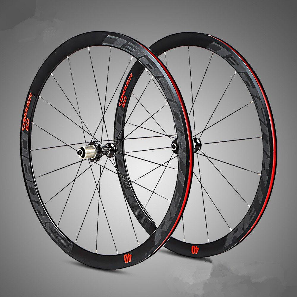 C6.0 super-licht aluminium straße fahrrad 4 perlin bearing radsatz flache speichen racing 40-speed felgen 700C mit anti-cursor