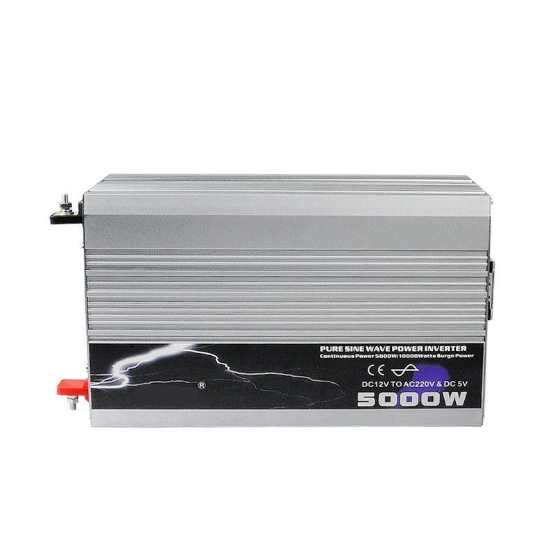 5000 watt Reine Sinus-wechselrichter 12 v/24 v/48 v DC Eingang 220 v/230 v AC Ausgang Peak Power 10000 watt Für Luft-zustand/Kühlschrank/Pumpe