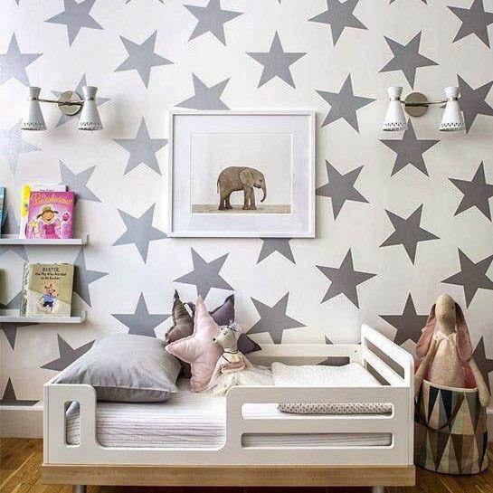 Étoiles sticker mural diy bébé pépinière stickers muraux amovible étoiles Sticker mural Pour Chambre D'enfants Facile Décoration Murale Vinyle Décors P2