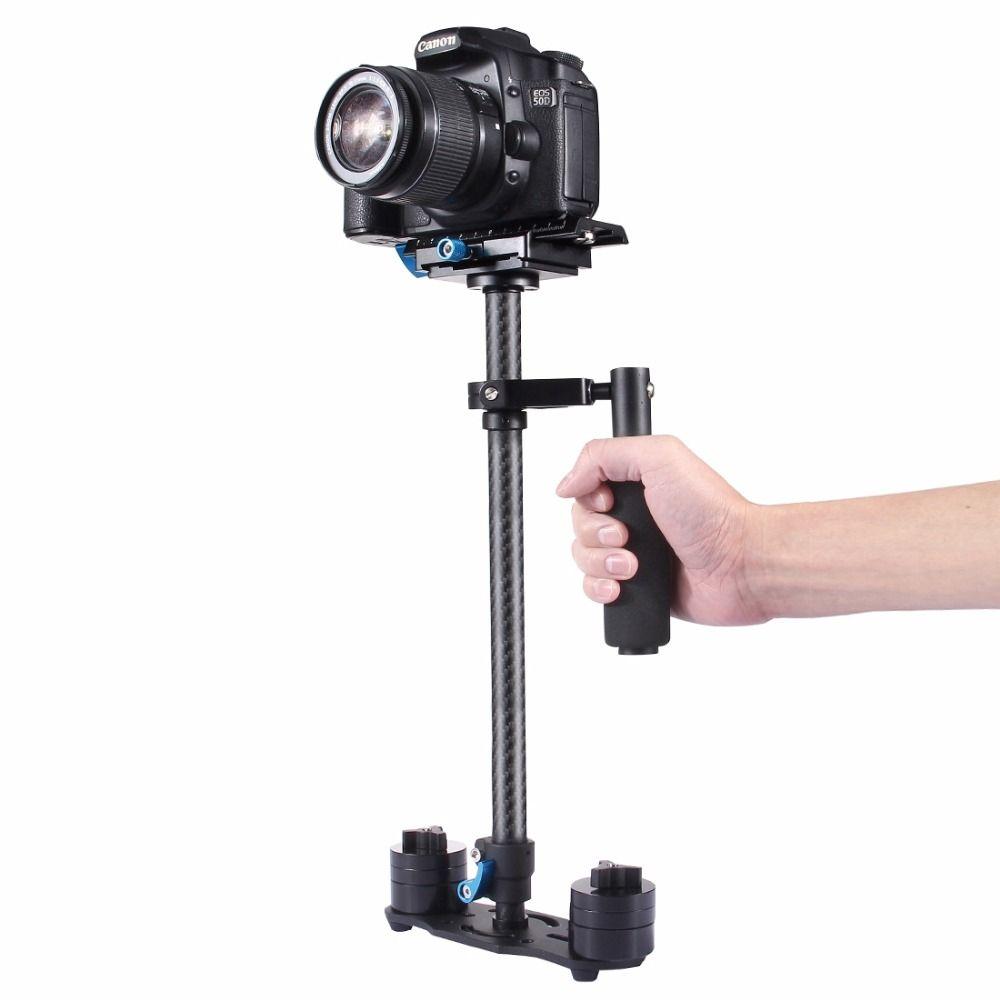PULUZ S60T Professional Portable Carbon Fiber Mini Handheld Camera Stabilizer DSLR Camcorder Video Steadicam