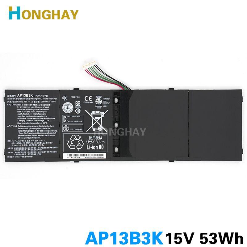 Honghay AP13B3K Laptop Battery for Acer Aspire V5 R7 V5-572G V5-573G V5-472G V5-473G V5-552G M5-583P V5-572P R7-571 AP13B8K