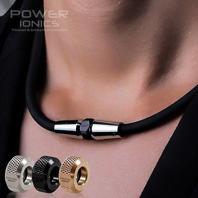 Puissance Ionics 3000 ions/cc Mode Sport Golf Baseball Titane Ion Collier