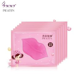 pilaten crystal collagen pump lips mask lot beauty exfoliator anti wrinkle mask moist pink lips care full lips plumper pink mask