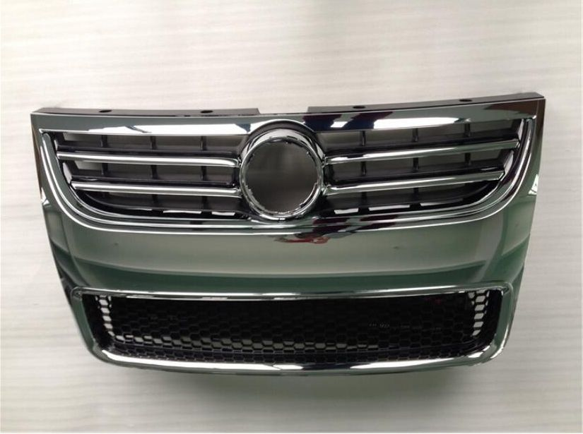 JIOYNG Car Front Around Mesh Grille Grills Cover Trims For Volkswagen VW Touareg 2008 2009 2010 BY EMS