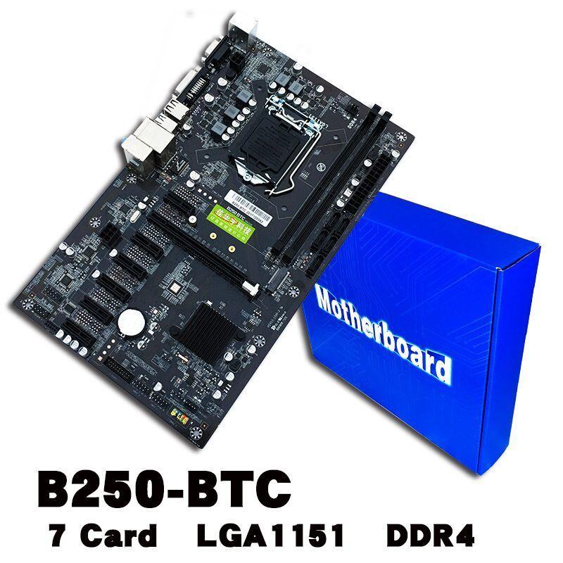 HEIßE BTC 6PCI-E Desktop Computer Motherboard Professionelle Mainboard VGA + DVI eingang USB 3.0/2,0 1151 DDR4 32G 16x Mini-pcie-steckplätze