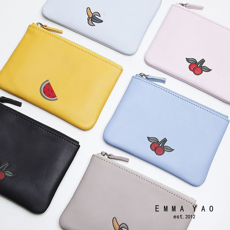 EMMA YAO  women's leather coin purses holders fashion wallet female korean purse