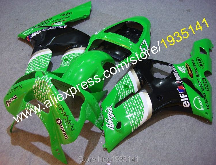 Hot Sales,For Kawasaki fairings kit New Arrival 2003 2004 Ninja ZX6R ZX 6R cowling aftermarket kit ZX-6R 636 (Injection molding)