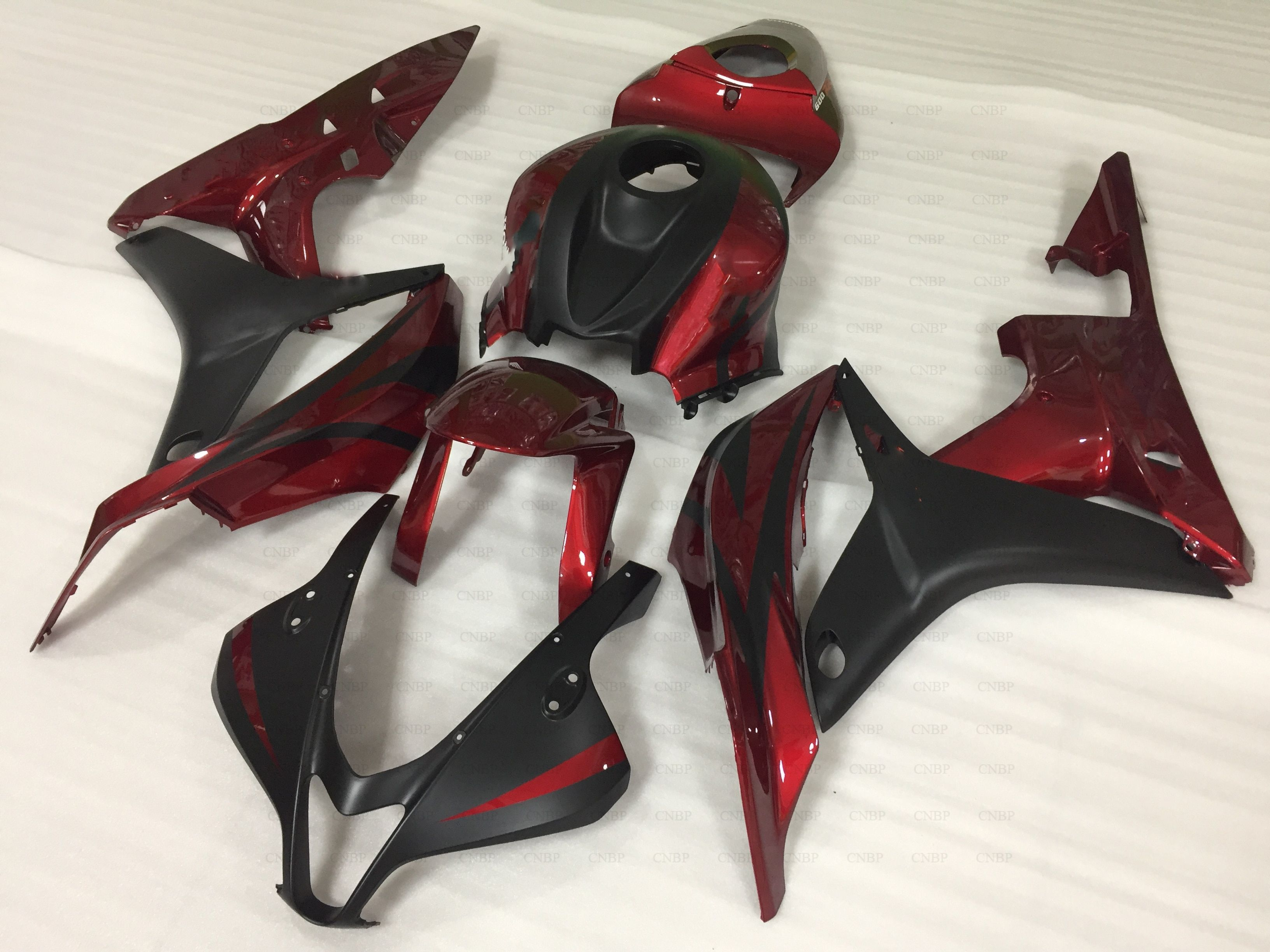 Plastic Fairings for Honda CBR600RR 08 Abs Fairing CBR600 RR 08 2007 - 2008 Black Red Motorcycle Fairing CBR 600 RR 07