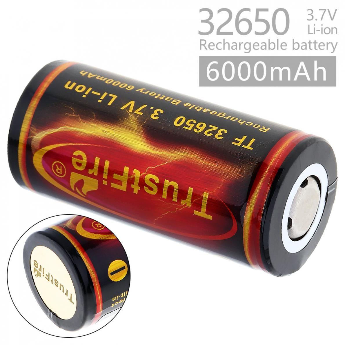 TrustFire 2 Pièces 6000 mah 3.7 V 32650 Batterie Au Lithium Li ion 32650 Batterie Rechargeable Avec PCB conseil de la protection pour lampe de poche