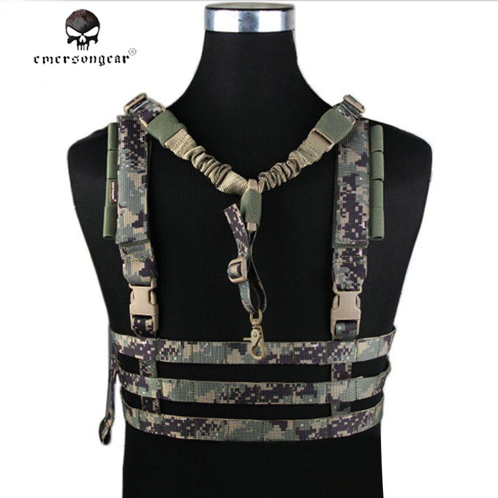EMERSON Army Wargame Tactical Vest Military Molle Outdoor Jagd Chest Rig Körper Rüstung Combat Gear Low Profile CS Ausrüstung