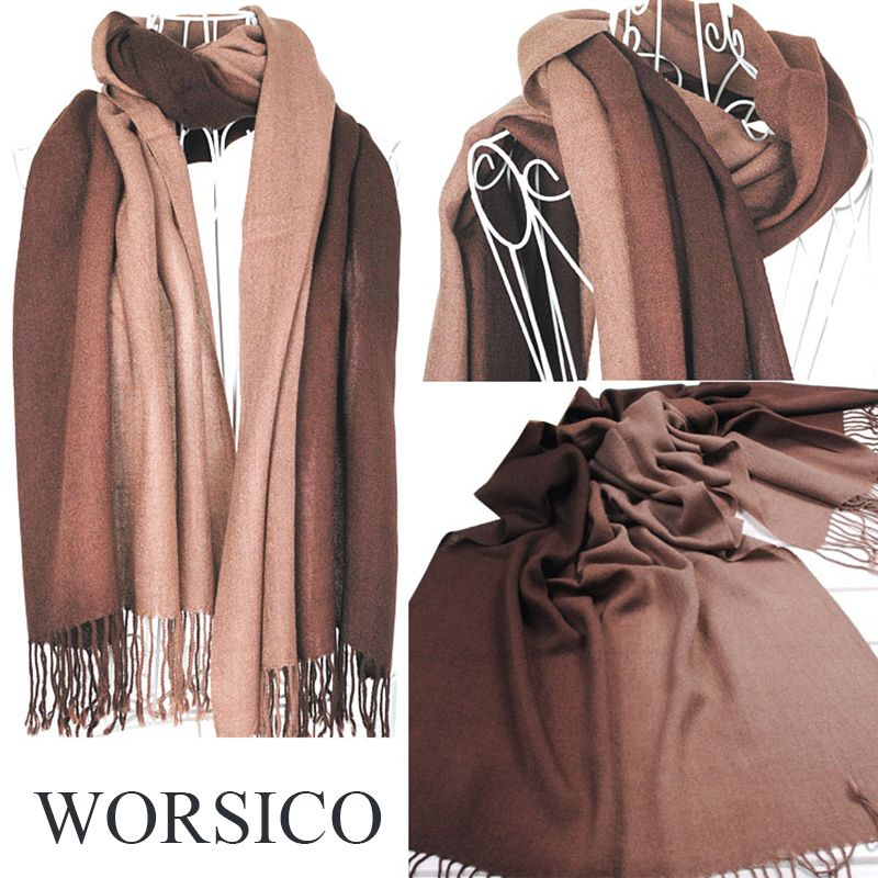 winter scarf women blanket gradient color scarf female shawls and scarves cashmere scarf tippet cachecol feminino drop shipping