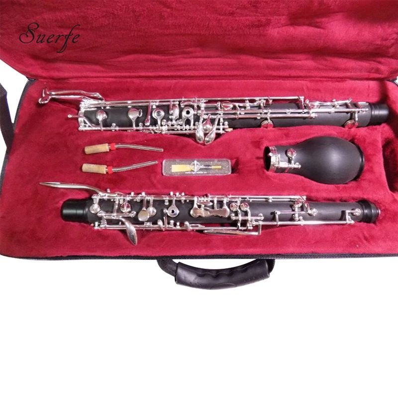 SUERTE High Quality Oboe F/C Key Semi Auto Bakelite/Ebony Wood English Horn with Foam Case Professional Wind Musical Instruments
