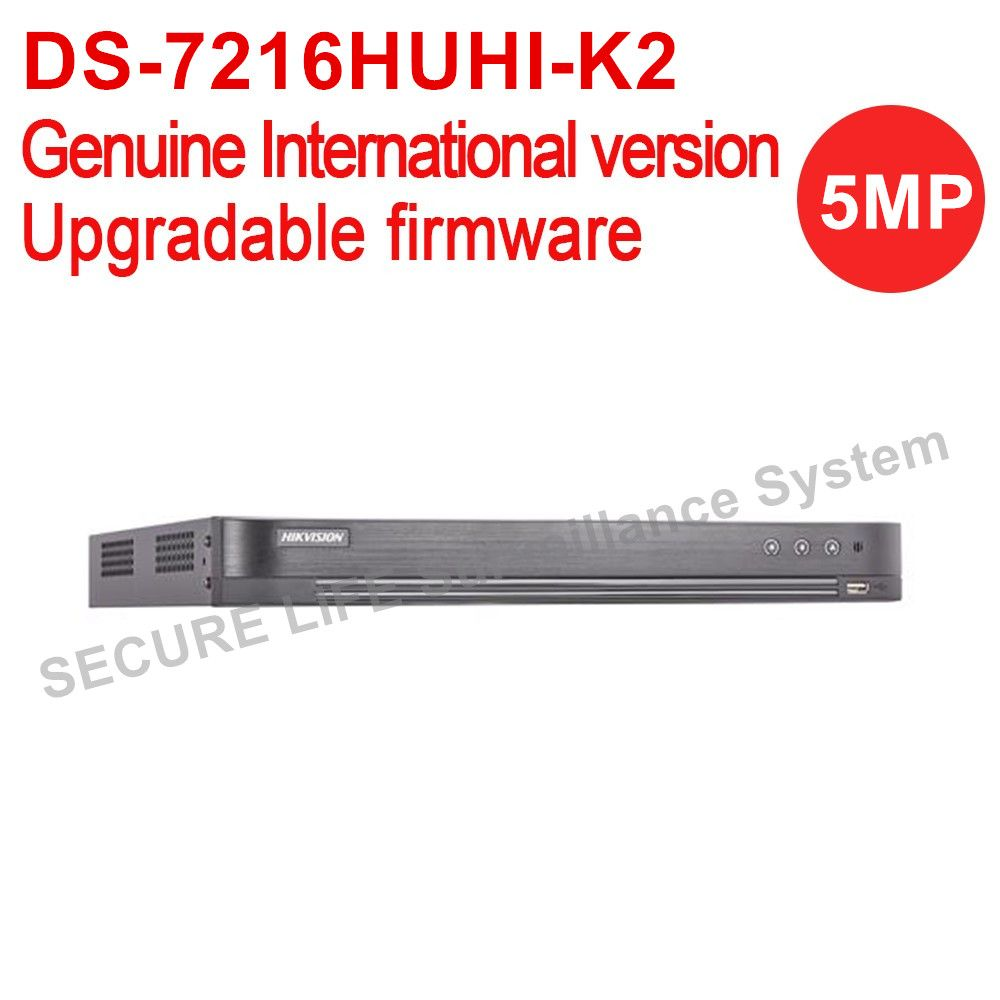 International Version DS-7216HUHI-K2 turbo HD DVR 16ch with 2 sata ports Self-adaptive HDTVI/HDCVI/AHD/CVBS signal input H.265+