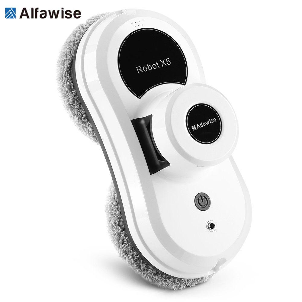 Alfawise S60 Vacuum Cleaner <font><b>Robot</b></font> Remote Control High Suction Anti-Falling Best <font><b>Robot</b></font> Vacuum Cleaner Window Glass Cleaning <font><b>Robot</b></font>