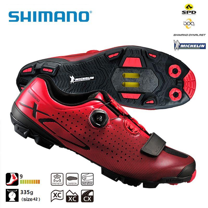 SHIMANO SH XC7 SPD SL MTB Carbon Fibre Bike Shoes Riding Equipment Bicycle Cycling Locking Cross Country Race Shoes