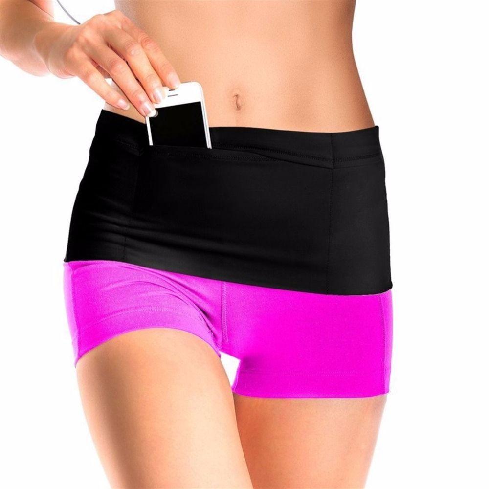 Elastische Laufband Fitness Taille Gürtel Travel Money Speicherband Mit Multi Taschen für Alle Größe Handy Passport FreeShip