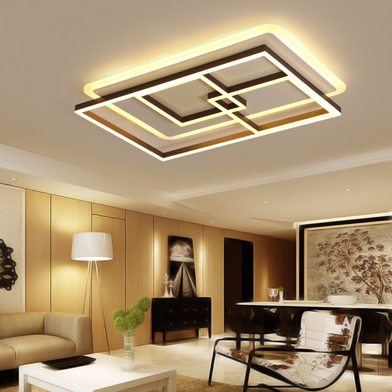 White+ Coffee color Finish Living Room Bedroom Study Room Led Ceiling Lights lampara de techo Modern led Ceiling Lamp Fixtures
