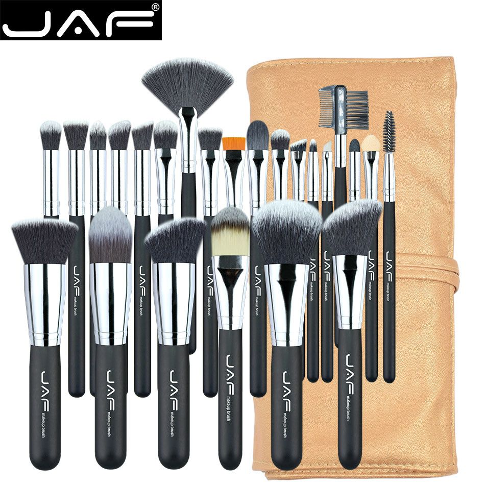 JAF 24pcs Professional Makeup Brushes Set High Quality Make Up Brushes Full Function Studio Synthetic Make-up Tool Kit J2404YC-B