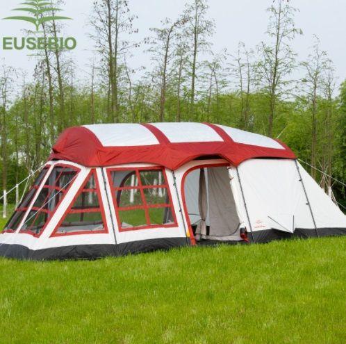 8 10 12 personen Riesige Doppel Schicht Im Familie Zwei Schlafzimmer Ein Wohnzimmer Haus Form Team Camping Zelt Innice relief Zelt