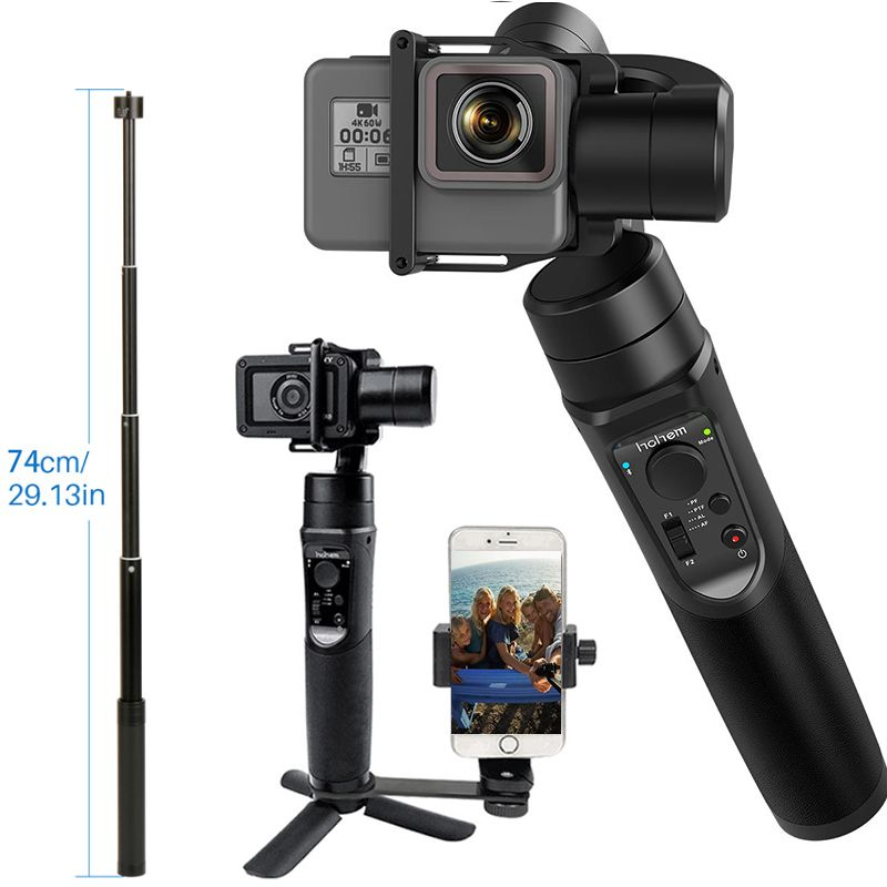 for GoPro Gimbal Hohem iSteady Pro 3-Axis Handheld Stabilizer Time-Lapse Tracking for Gopro Hero 6/5/4 Yi Cam 4K PK Feiyutech G6