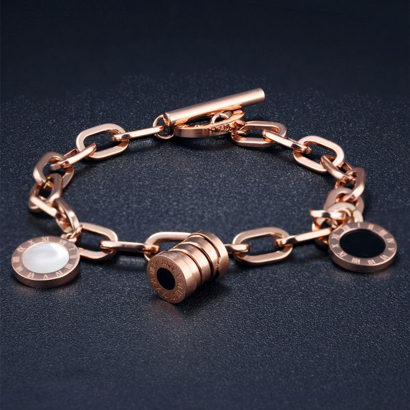 Bracelet de fiançailles de mariage de mariée pour femmes élégant bracelets de coquille de résine chiffres romains bijoux bulgarie bracelets pour femme