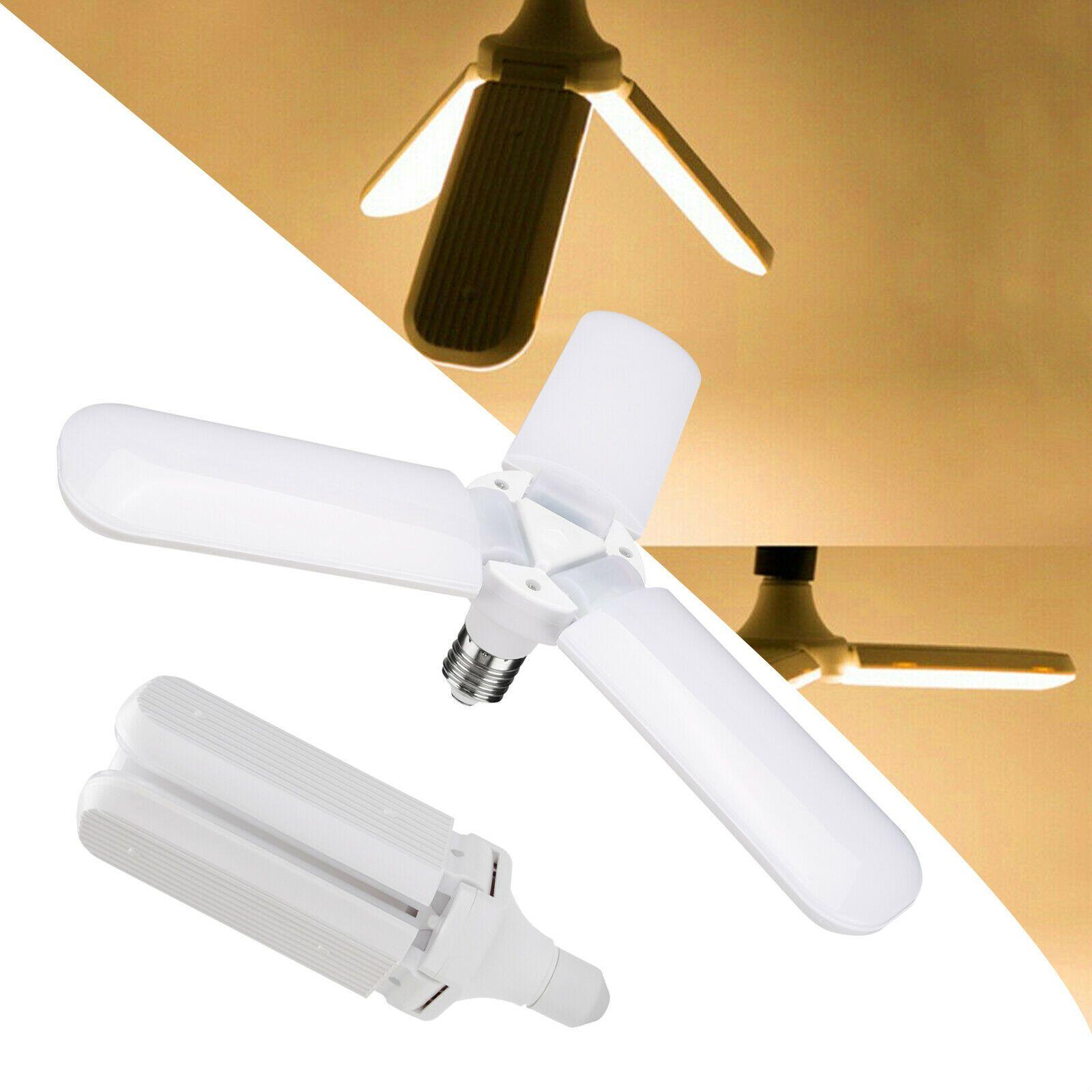 45W E27 Fan Blade LED Light Bulb LED Folding Garage Lamp AC85-265V Adjustable ceiling Lighting Warm white/Cool White