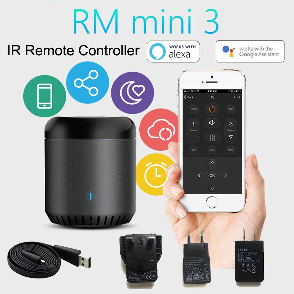 Télécommande universelle intelligente sans fil IR WiFi/IR/4G de Broadlink RM Mini3 Via IOS Android domotique intelligente 2019 nouveau