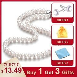 LINDO удивительная цена AAAA высокое качество натуральный пресноводный жемчуг ожерелье для женщин 3 цвета 8-9 мм Ювелирные изделия из жемчуга 45 с...