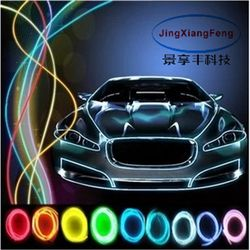 10 colors car accessories Styling 5M flexible neon light glow EL With 12V interior lights lighter DIY Decorative Dash Door