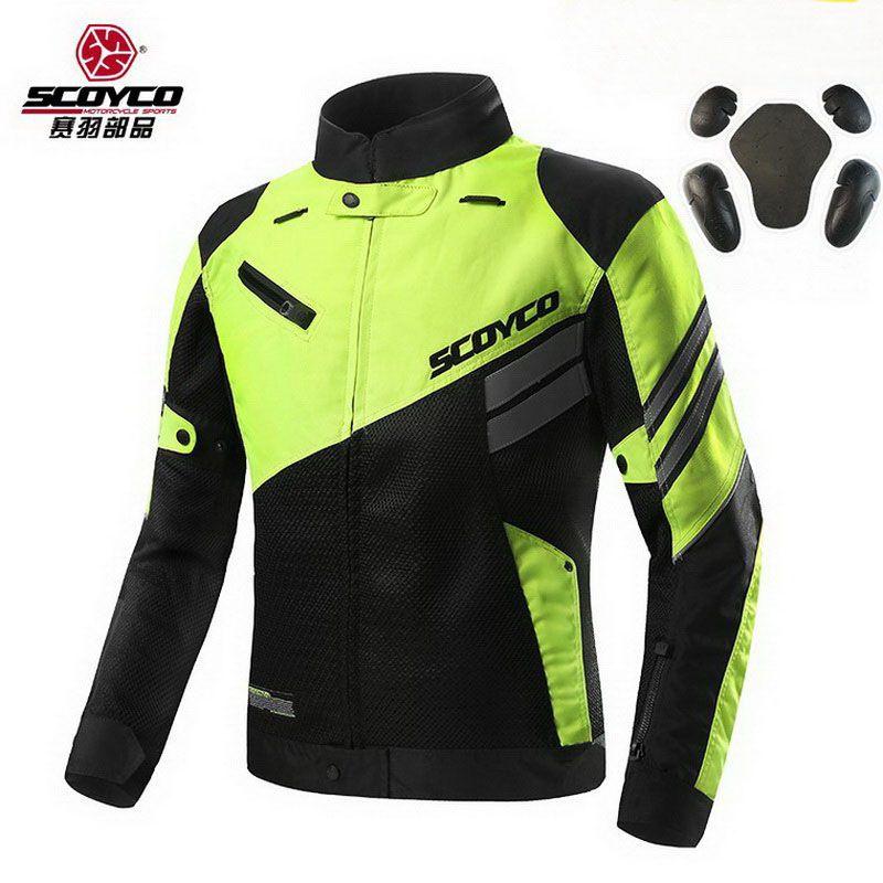 2017 Summer New SCOYCO men's coat mesh Motorcycle riding suit Jackets knight Crash proof suit Motorbike reflector jacket JK36