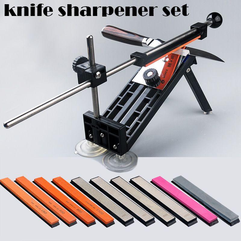 1 Set nouveau affûteuse de couteau à angle fixe ensemble d'outils d'affûtage professionnel meule de repas meule de diamant barre disponible