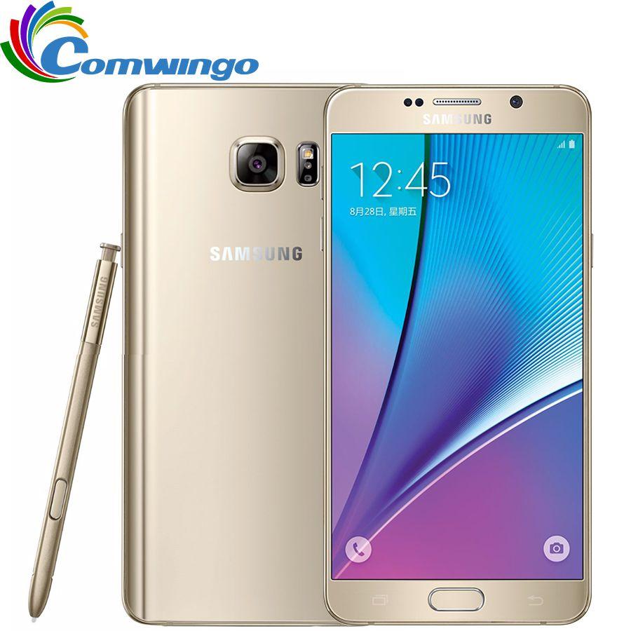 Ursprünglicher Freigesetzter Samsung-galaxieanmerkung 5 N920A note5 4 GB RAM 32 GB ROM 16MP 5,7 zoll Octa-core 2560x1440 4G LTE Mobilen telefon