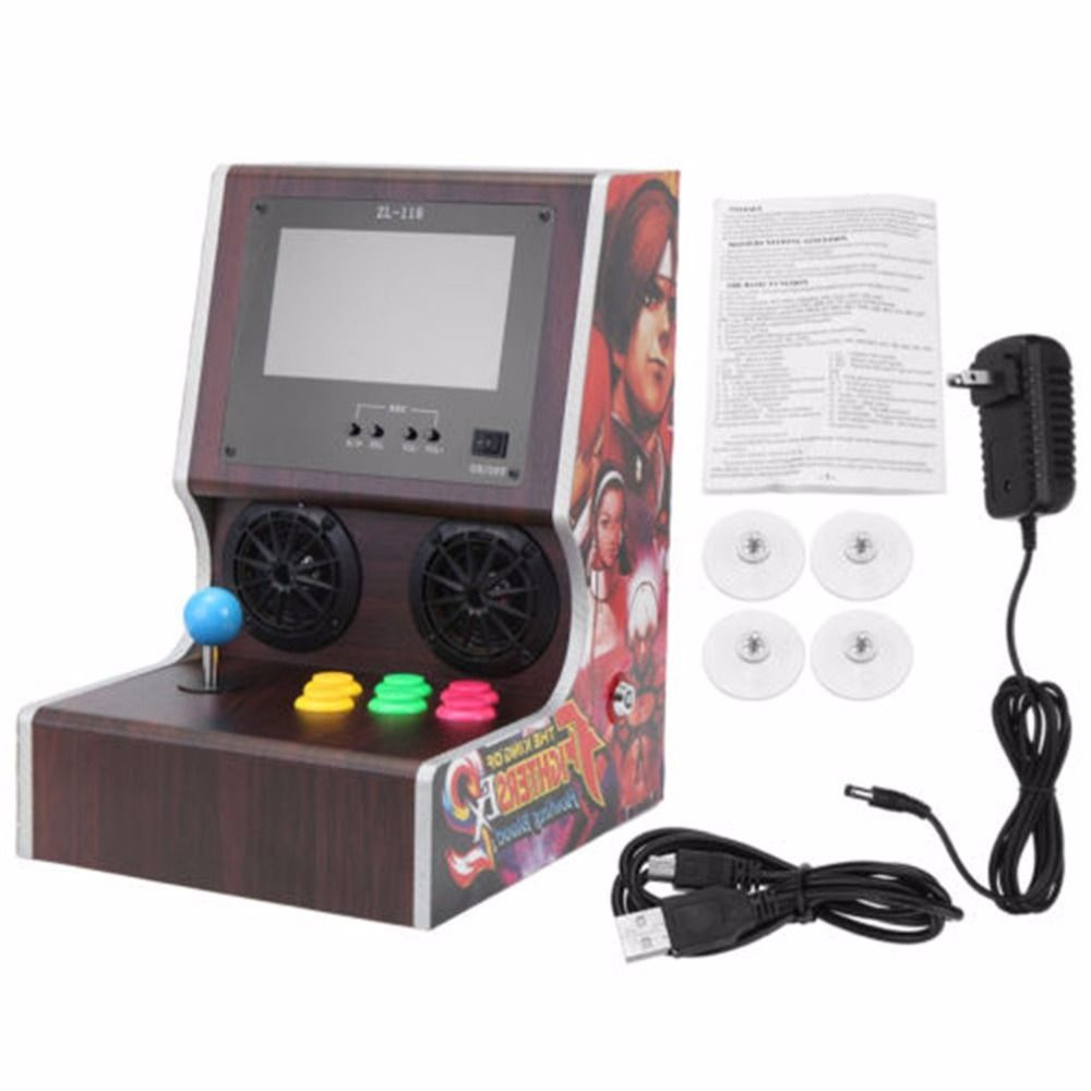 9 Inch Professional Family Classic Mini Arcade Machine Home Party Vintage Arcade Game Vending Machine Game Console Controller