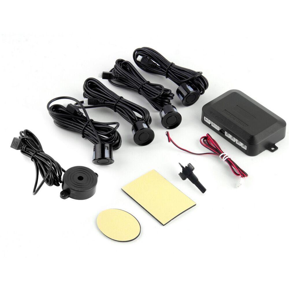 DC12V LED Парковка Сенсор 4 Датчики Мониторы Авто Обратный резервного Антирадары Системы комплект Звук оповещения тревоги Индикатор зонд ~