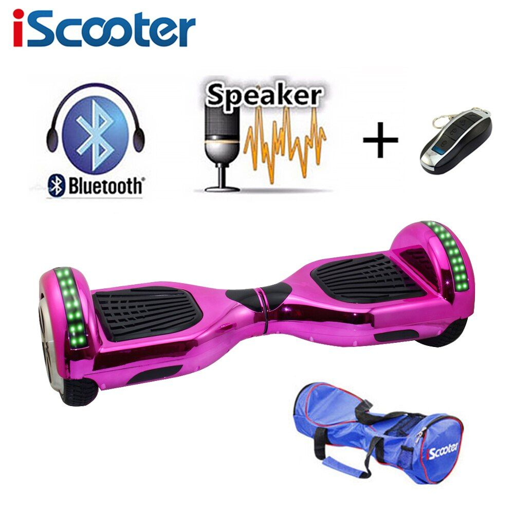 IScooter Neue 6,5 zoll hoverboard bluetooth und LED Giroskuter 2 Rad selbstausgleich Gyroscooter schwebebrett Zwei Rad Oxboard