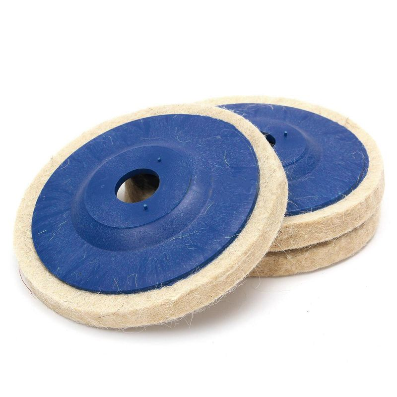 New 3pcs 4 Inch Wool Polishing Pads Buffing Angle Grinder Wheel Felt Polishing Disc Pad Set 100mm