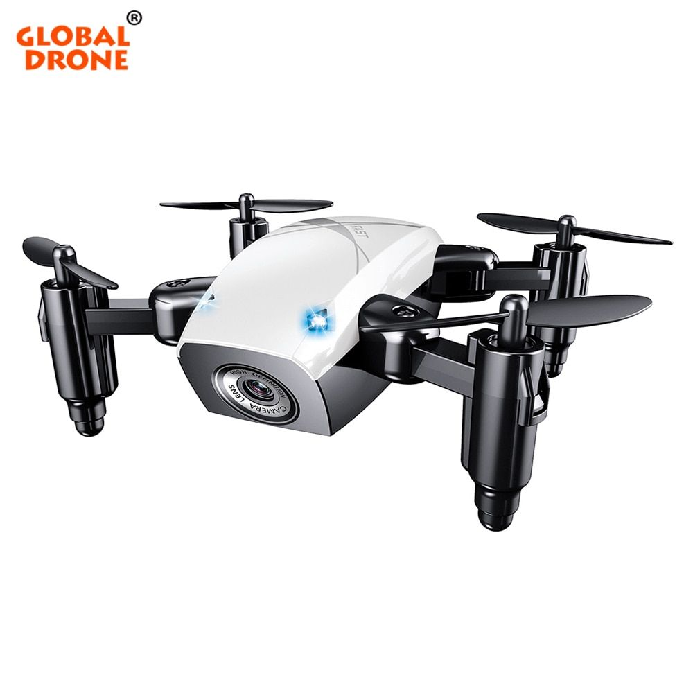 Global Drone S9W Foldable Mini Wifi FPV Drone with Camera HD Headless Mode RC Helicopter Quadrocopter Pocket Dron VS H31