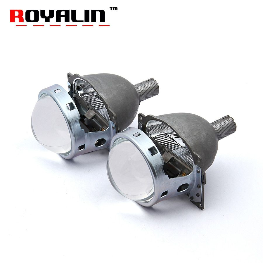 ROYALIN Car Q5 Bi Xenon Lens 3.0 Headlight Projector Kit with HID 21mm Bulbs For Auto H1 H4 H7 9005/HB3 9006/HB4 Lights Retrofit