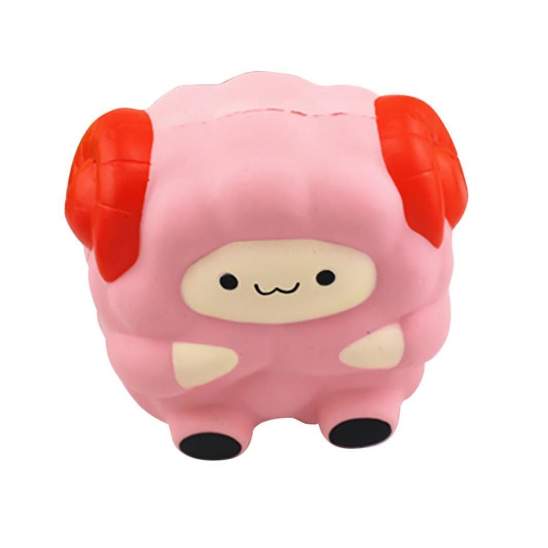Soft Cartoon Sheep Squishy Slow Rising Squeeze Stress Reliever Toy Jumbo 12CM Phone Strap DIY Decor Ballchain Christmas Gift P15