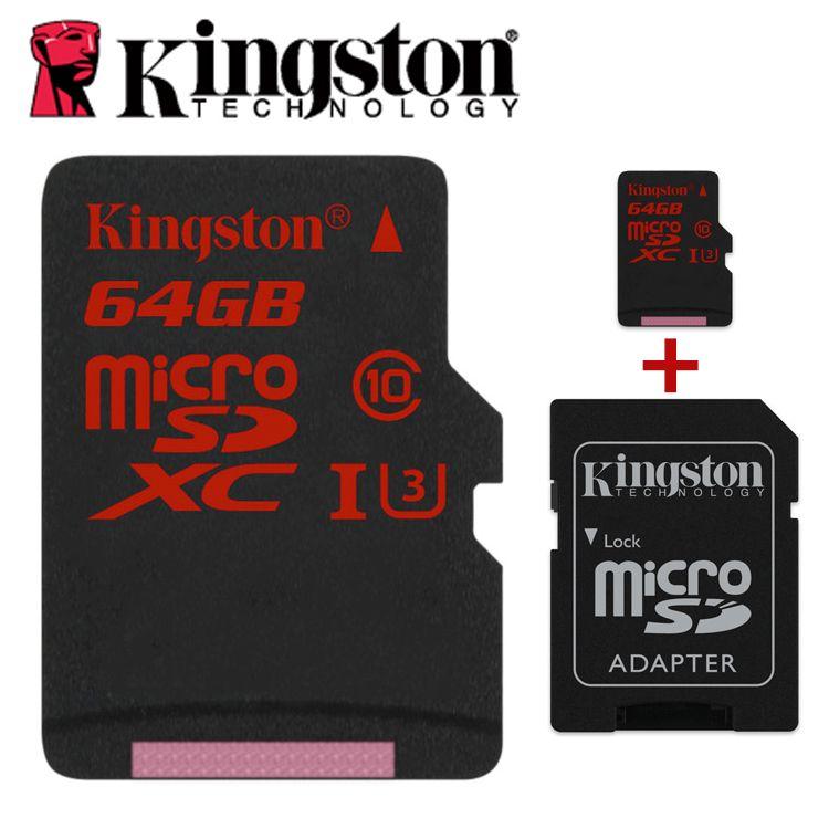 Kingston microSDHC/SDXC UHS-I U3 90R/80 w micro sd 16 gb 32 gb 64 gb 2 k 4 k DSLR DSLM vidéo mémoire tf carte mémoire