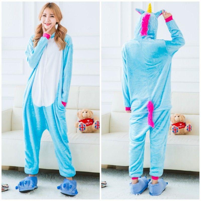 Blue Pegasus Unicorn Adultos Pijamas Unicornio Onesies Animales Pijamas Onesies Adultos Animales Onesies Pijamas Pijamas de Navidad