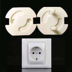 10 unids UE niño Seguridad enchufe eléctrico cubierta tapones para enchufe bebé guardia protección anti choque eléctrico girar protector